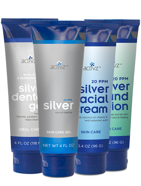 Activz™ Silver Gel & Lotion Sampler