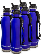 6 - pH2O Stainless Steel Bottles