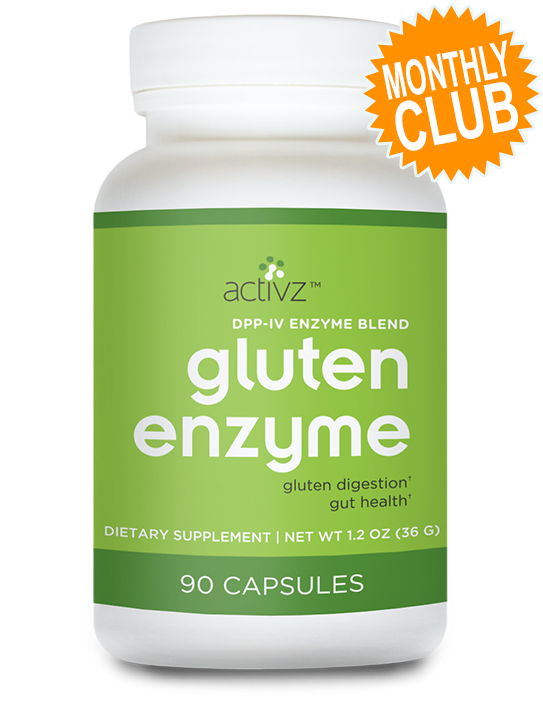 Activz™ Gluten Enzyme Supplement Monthly Club