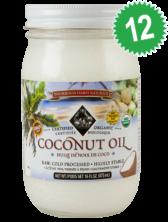 Case of 12 - Coconut Oil - Cold Pressed