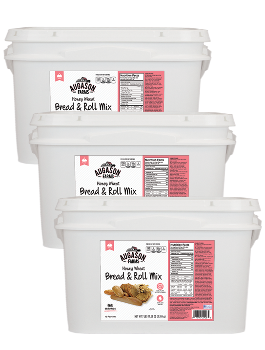 3 - Honey White or Honey Wheat Bread & Rolls Buckets