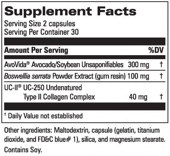 Joint Formula With UC-II® Supplement Facts