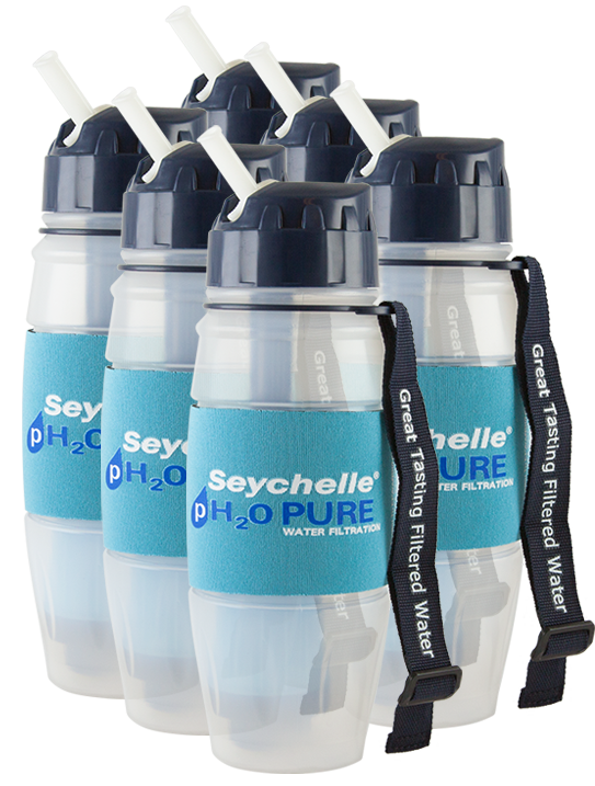 6 - Seychelle® pH2O Water Bottles