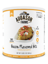 Augason Farms® Bacon Flavored Bits Vegetarian Meat Substitute Can