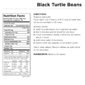Black Turtle Beans Can Nutritional Facts