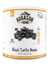 Augason Farms® Black Turtle Beans Can