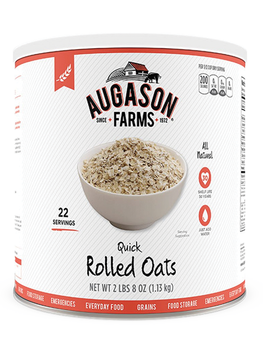 Augason Farms® Quick Rolled Oats Can
