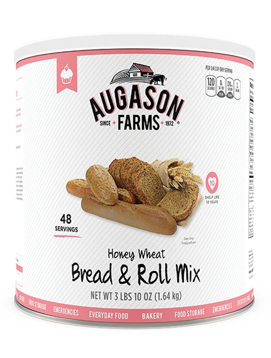 Augason Farms® Honey Wheat Bread & Roll Mix