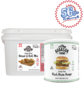 Gluten-Free Black Bean Burger Combo Kit (Wheat)