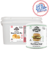 Gluten-Free Black Bean Burger Combo Kit (White)