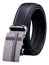 Mens Adjustable Cross Buckle Belt