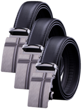 3 - Mens Adjustable Cross Buckle Belts