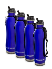 4 Seychelle pH20 Stainless Steel Bottles blue