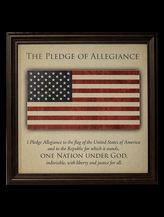 Pledge of Allegiance Framed Artwork