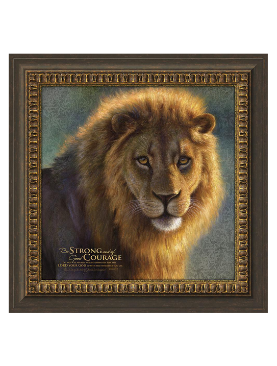 Be Strong and of Good Courage Framed Art