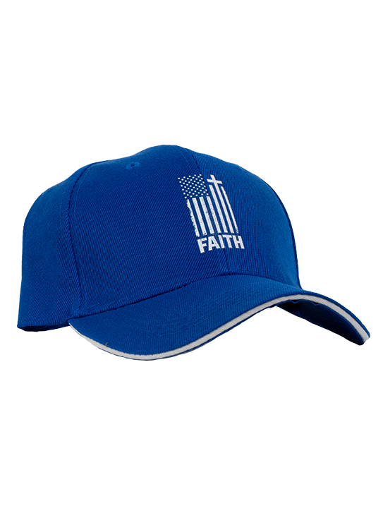Blue Faith Flag Hat JBS