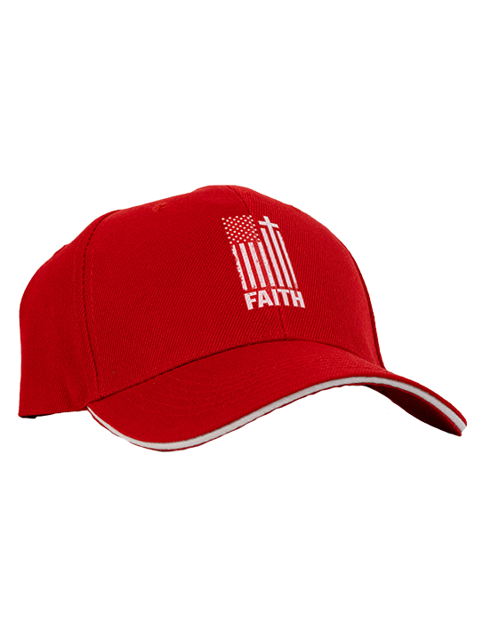 Red Faith Flag Hat JBS