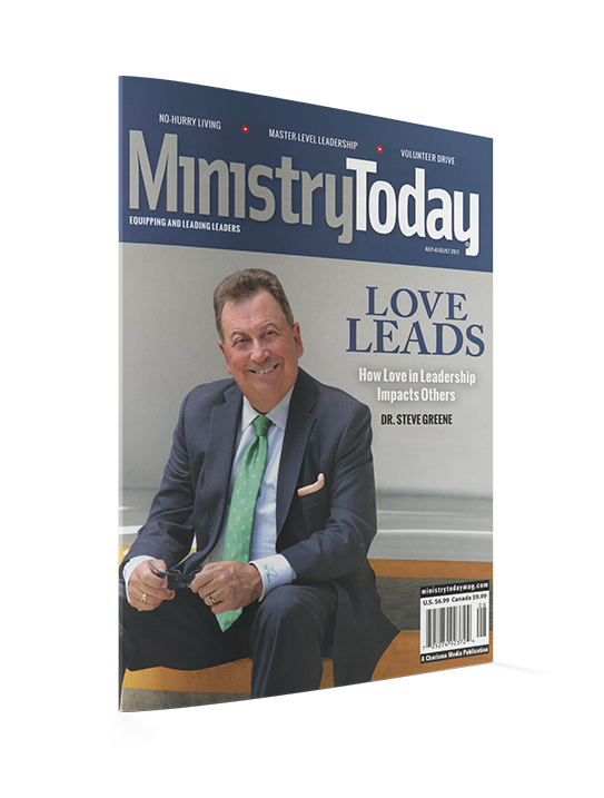 Ministry Today Magazine-Dr. Steve Greene