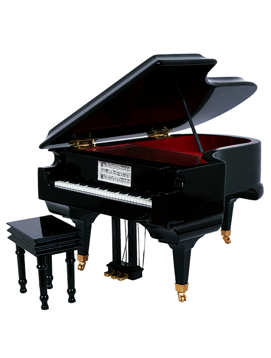 Grand Piano Music & Jewelry Box