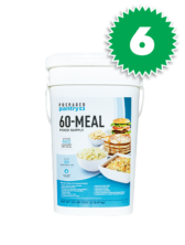 Six (6) Prepared Pantry 60 Meal Buckets