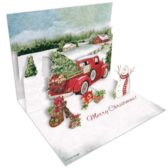 Red Truck Pop Up Cards