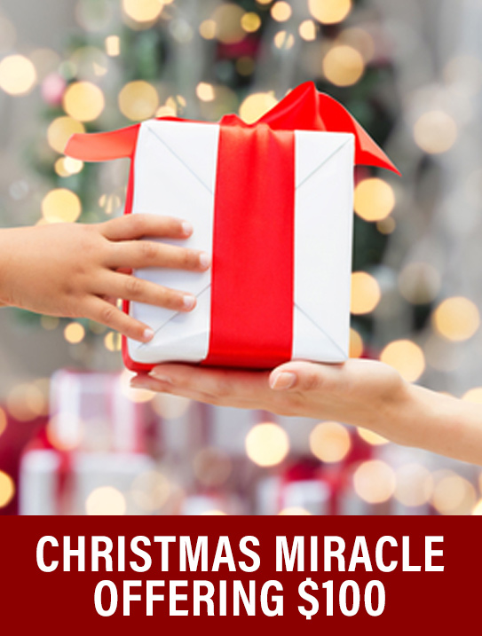Christmas Miracle Offering $100