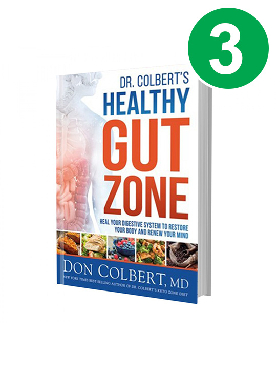 3-Dr. Colbert's Healthy Gut Zone Books