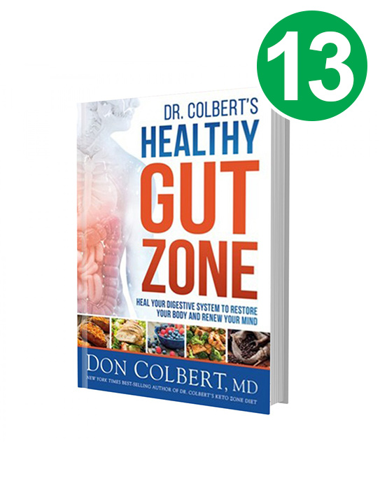 13-Dr. Colbert's Healthy Gut Zone Books