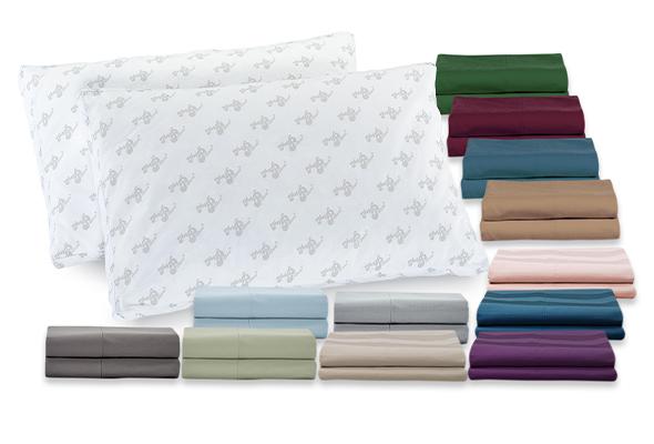 Two Queen Premium MyPillows & Giza Pillowcase Bundle