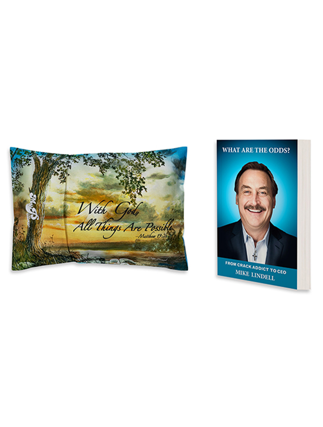 Mike Memoir plus With God All Things Are Possible Roll N GoAnywhere MyPillow