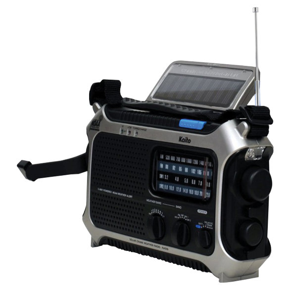 Kaito KA 550 it is Grey and Black Radio