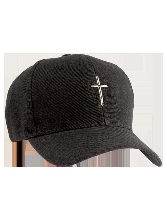 cross-hat-black