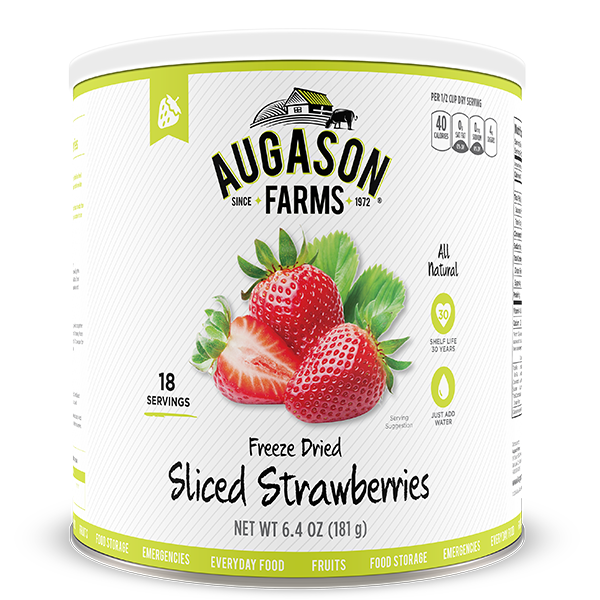 Freeze Dried Sliced Strawberry #10 Can