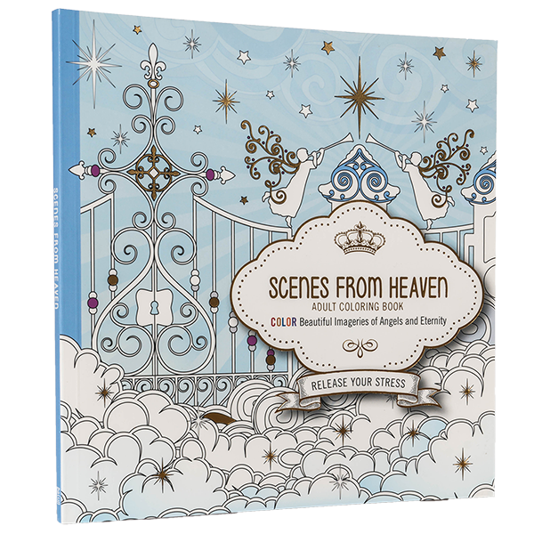 Scenes from Heaven Adult Coloring Book: Beautiful Imageries of ...