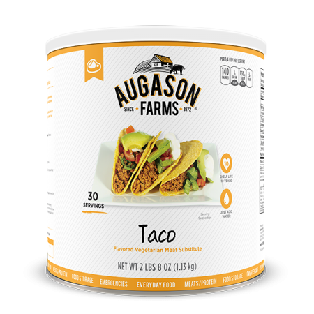 Taco Flavored Meat Substitute Can