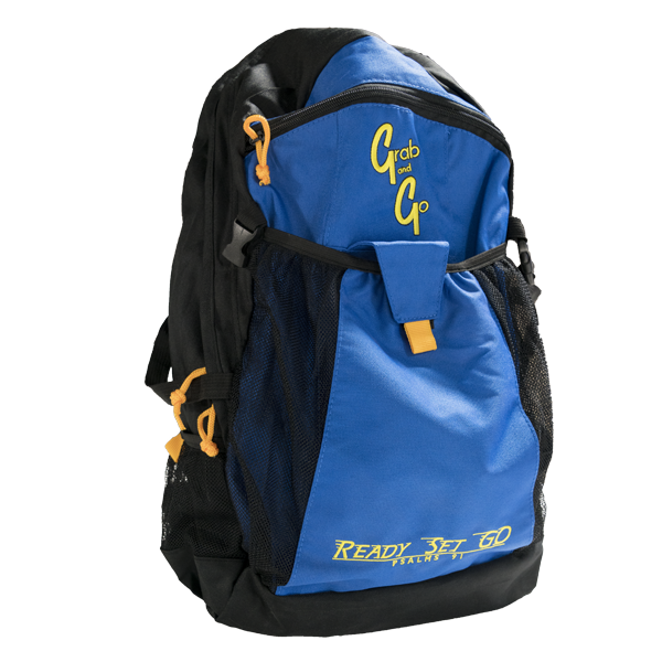 Grab and Go backpack front