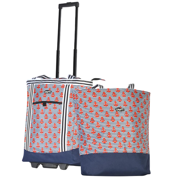 Cooler Buddy Rolling Cooler & Insulated Tote Set- Anchor