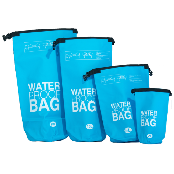 Water Proof Bags all sizes Light Blue