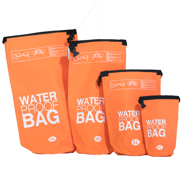 Water Proof Bags all sizes Orange