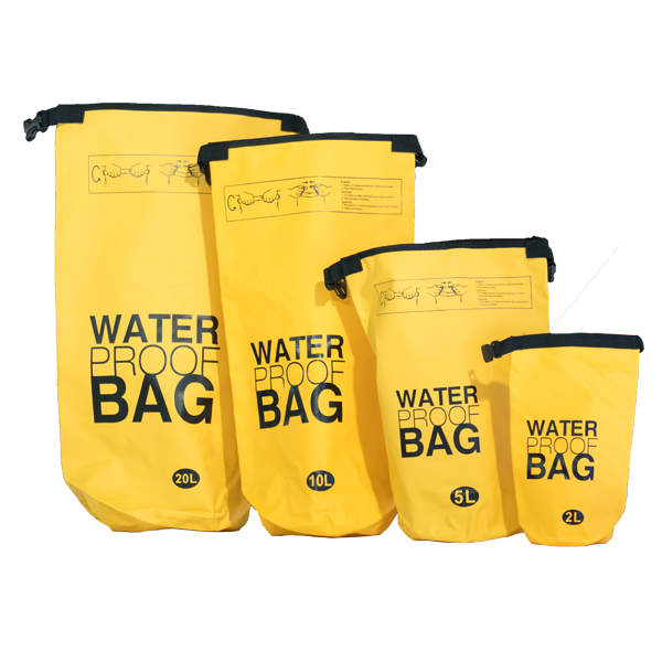 Water Proof Bags all sizes Yellow
