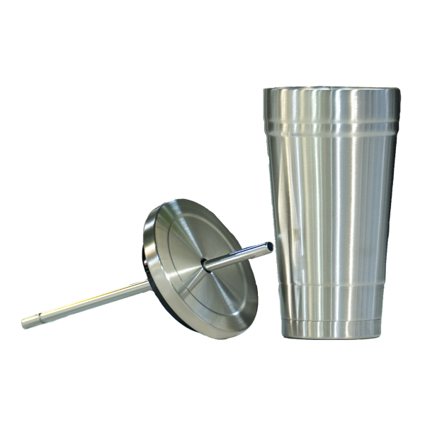 Stainless Steel Tumbler with Lid & Straw 2