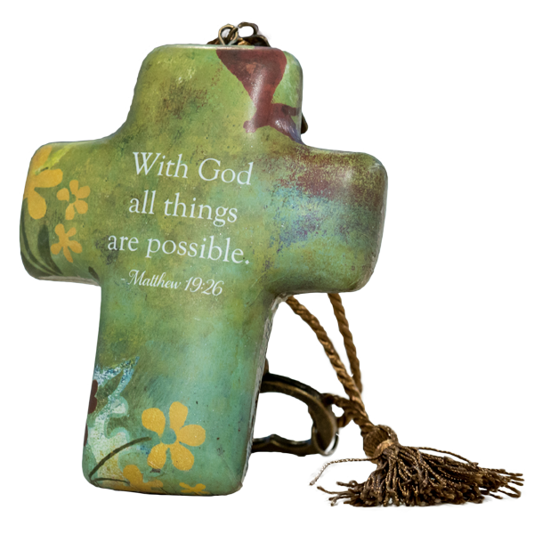 All Things Are Possible – Artful Cross by Artist Willie Green-Aldridge