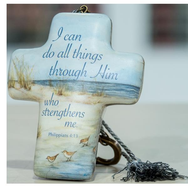 All Things Through Him – Artful Cross by Artist Susan Winget