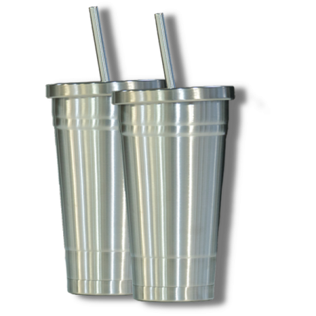 2 Stainless Tumblers