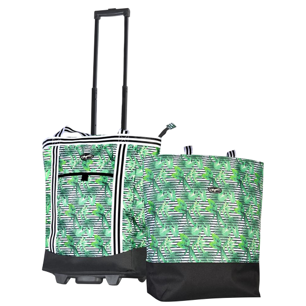 Cooler Buddy Rolling Cooler & Insulated Tote Set- Rainforest