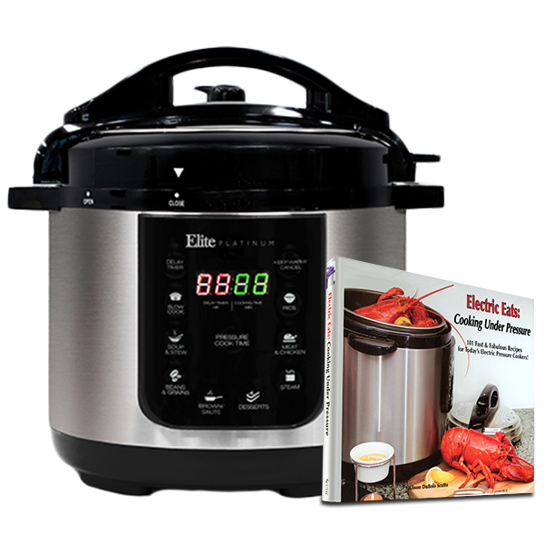 Elite Pressure Cooker w cookbook