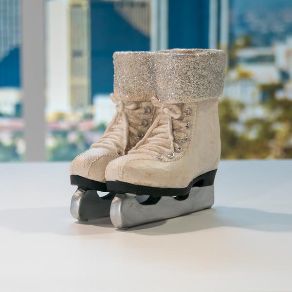 Ice Skate Vase PTL