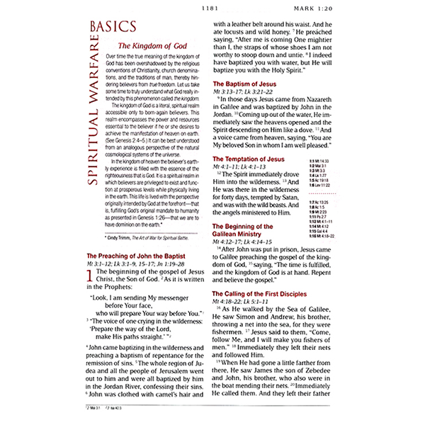 MEV Spiritual Warfare Bible Leather | PTL Shopping Network