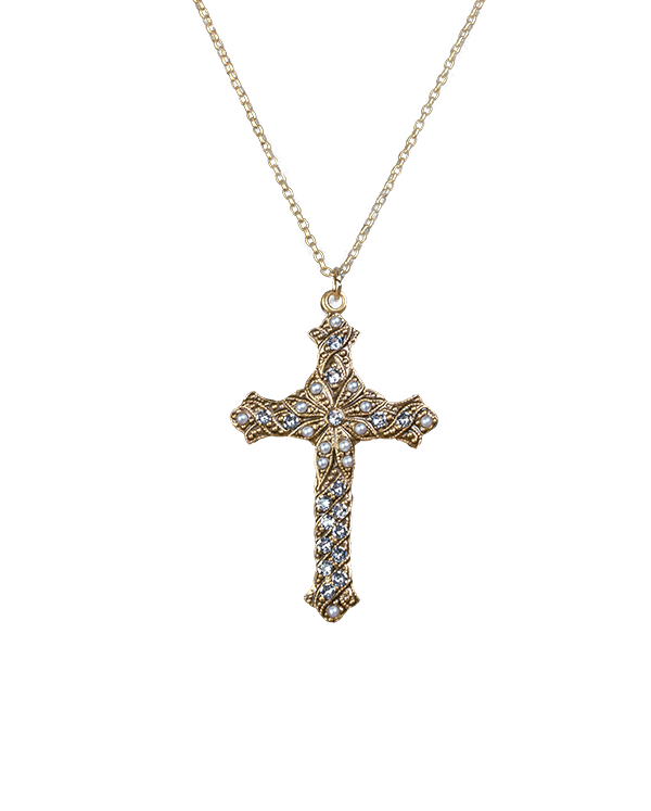 Pearl-Cross-Necklace