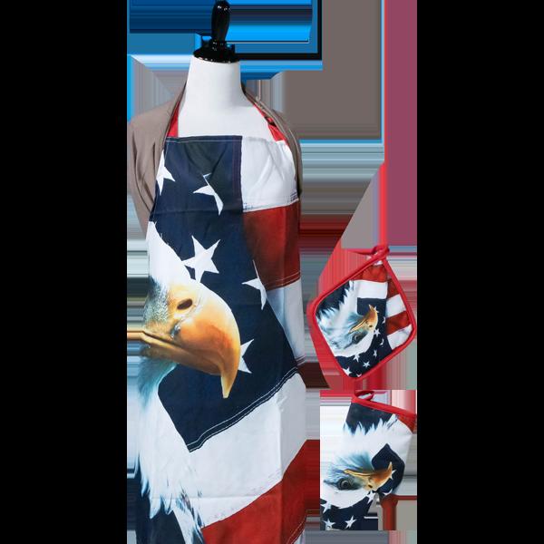 American-Eagle-Apron-Set